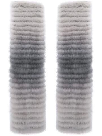 Agnona Fingerless Gloves - Grey