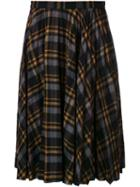 Maison Margiela Checked Pleated Skirt