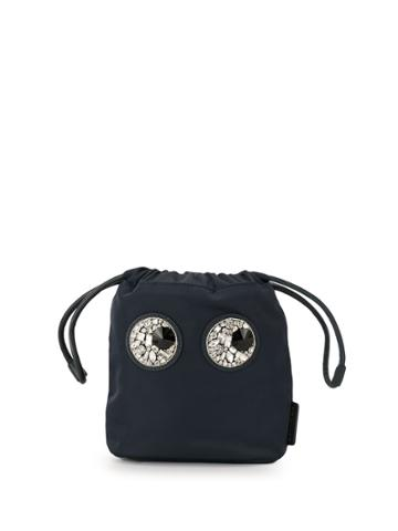 Anya Hindmarch Embellished Eye Bucket Bag - Blue