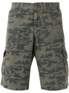 Woolrich Camouflage-print Cargo Shorts, Men's, Size: 36, Green, Cotton