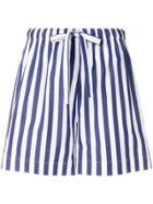 Aspesi Striped Drawstring Shorts - Blue