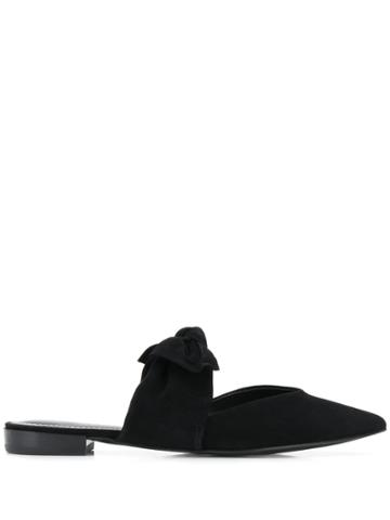 Kendall+kylie Bow Slip On Mules - Black