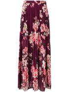 Liu Jo Floral Pleated Maxi Skirt - Red