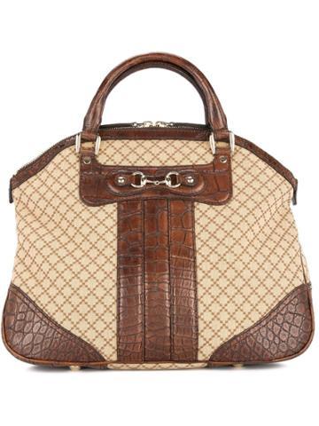 Gucci Vintage Gucci Logos Hand Tote Bag - Neutrals