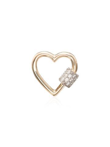Marla Aaron Diamond Heart Lock Charm - Metallic