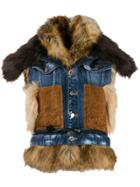 Dsquared2 Mixed Material Denim Gilet - Blue