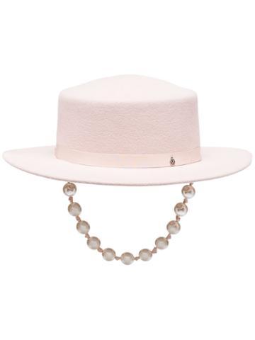 Maison Michel Kiki Pearl Hat - Pink
