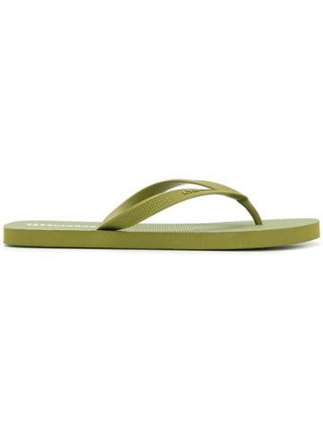 Superga Embossed Logo Flip Flops - Green