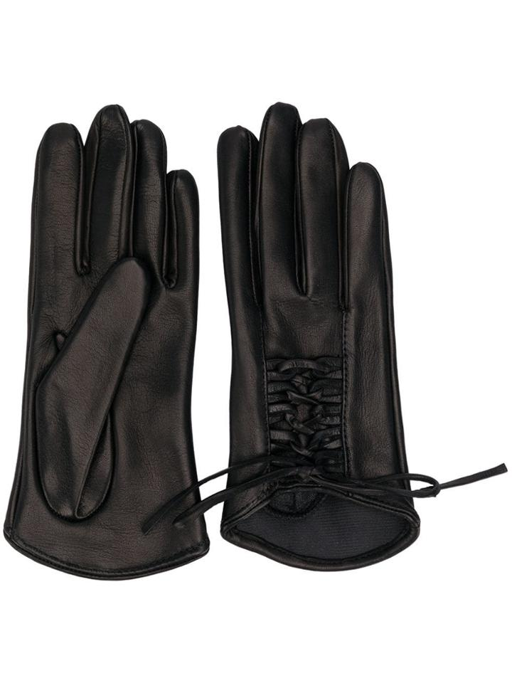 Manokhi Lace Up Gloves - Black
