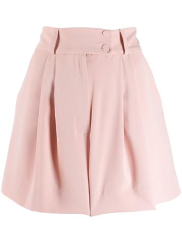 Styland Pleated Short Shorts - Pink
