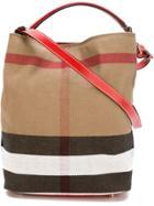 Burberry Large 'ashby' Shoulder Bag - Red