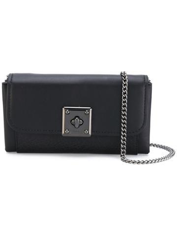 Coach - Flip Lock Crossbody Bag - Women - Leather - One Size, Black, Leather