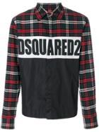 Dsquared2 Logo Checked Shirt - Black