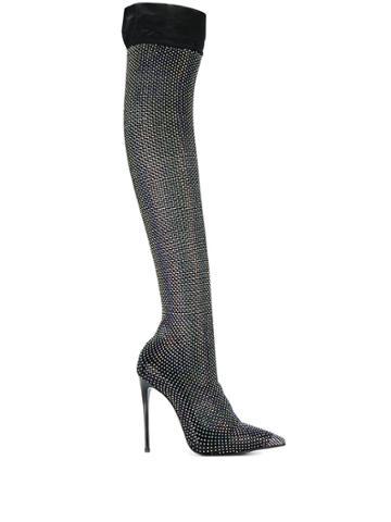 Le Silla Le Silla 2116n100r1ppcay 001 Nero Furs & Skins->leather -