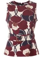 P.a.r.o.s.h. Floral Print Tank Top - Red