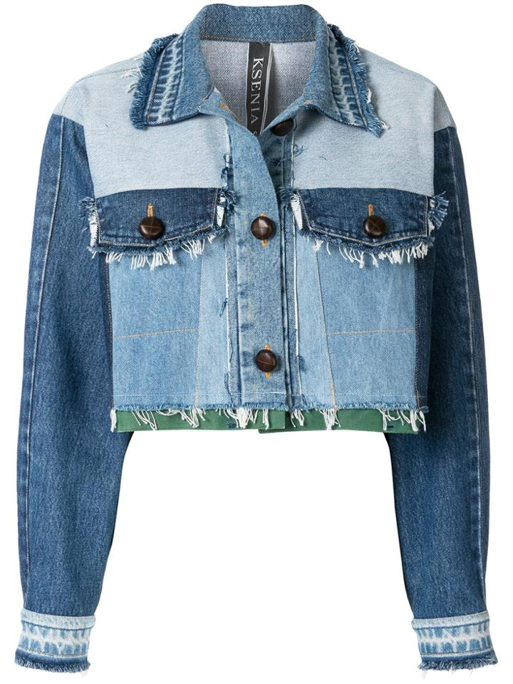 Kseniaschnaider Blue Cropped Jacket