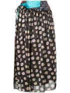 Astraet Multi-print Draped Skirt - Multicolour