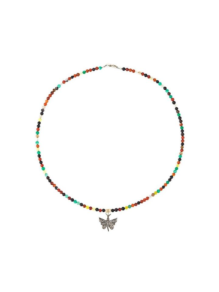 Catherine Michiels Encrusted Butterfly Necklace, Women's