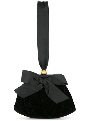 Chanel Vintage Quilted Bow Hand Bag - Black