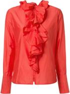 Tome Ruffled Blouse - Red