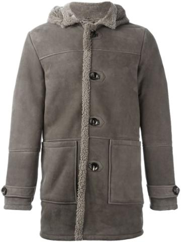 Eleventy Shearling Hooded Coat