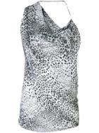 Cushnie Leopard Print Blouse - White