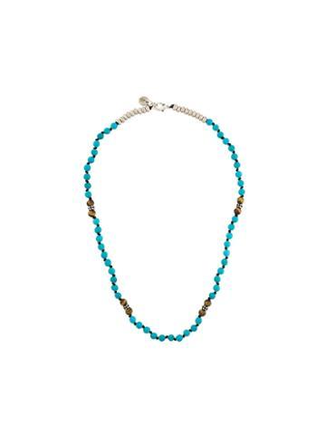 Eleventy Beaded Necklace, Men's, Blue