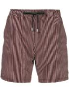 The Upside Striped Shorts - Red
