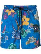 Etro Floral Printed Swim Shorts - Blue
