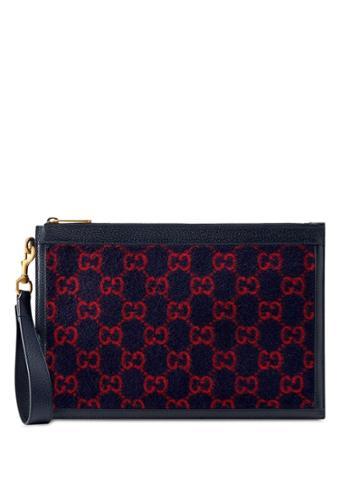 Gucci Monogram Pattern Wallet - Blue