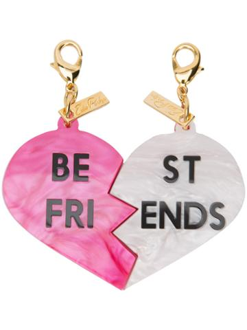 Edie Parker - Best Friend Charm - Women - Acrylic - One Size, Pink/purple, Acrylic