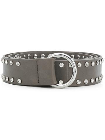 B-low The Belt Crystal Embellished Belt - Grey