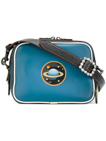 Coach - Planet Patch Shoulder Bag - Women - Leather - One Size, Blue, Leather
