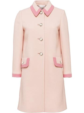 Miu Miu Wool Coat - Pink