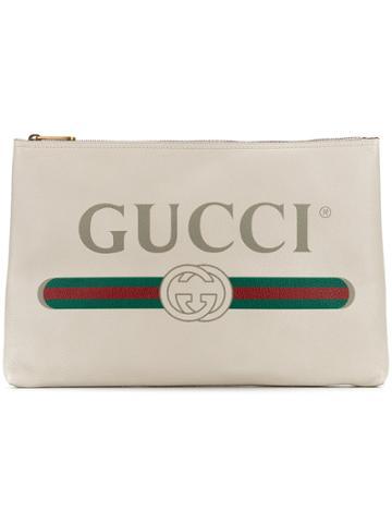 Gucci Gucci Logo Clutch - White