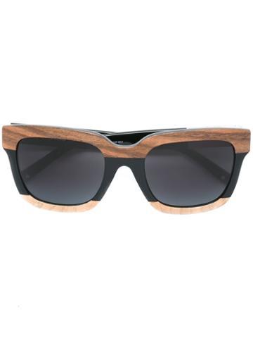 3.1 Phillip Lim Linda Farrow X 3.1 Phillip Lim '93 C2' Sunglasses, Women's, Black, Acetate