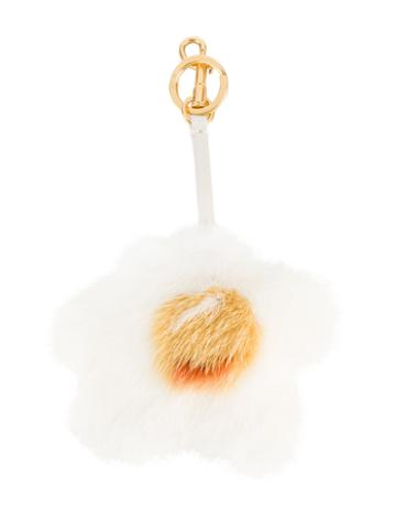 Anya Hindmarch - Fluffy Egg Charm - Women - Leather/mink Fur - One Size, White, Leather/mink Fur