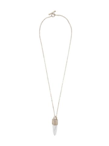 Parts Of Four Crystal Pendant Necklace, Adult Unisex, Metallic