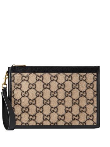 Gucci Monogram Pattern Wallet - Neutrals