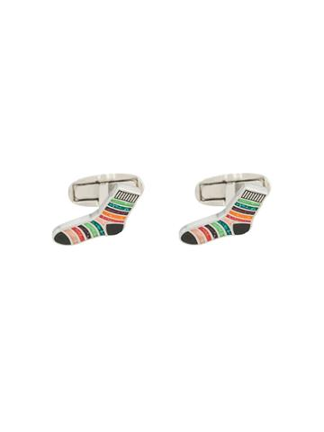 Paul Smith Striped Sock Cufflinks - Silver