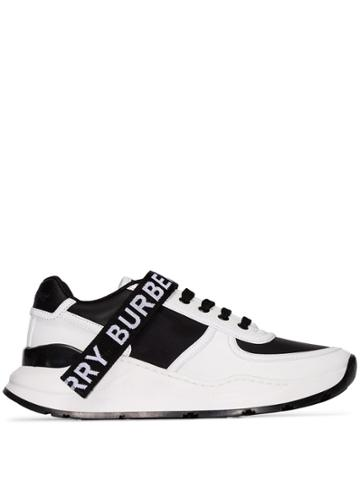 Burberry Ronnie Logo-strap Sneakers - Black