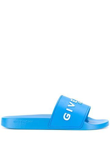 Givenchy Logo Slides - Blue