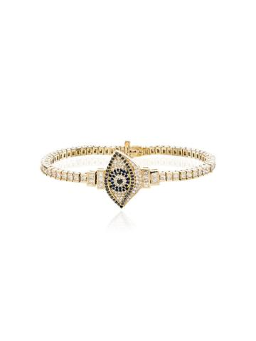 Established 18kt Yellow Gold Evil Eye Bracelet