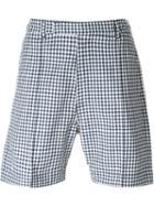 E. Tautz Pintuck Gingham Bermuda Shorts