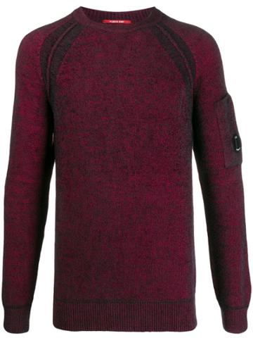 Cp Company Side Pocket Sweater - Red