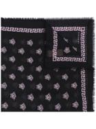 Versace Patterned Scarf - Black