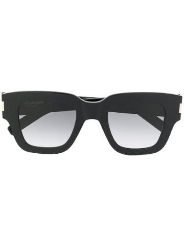 Saint Laurent Eyewear Oversized Square Frame Sunglasses - Black