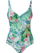 Lygia & Nanny Foliage Print Open Back Swimsuit