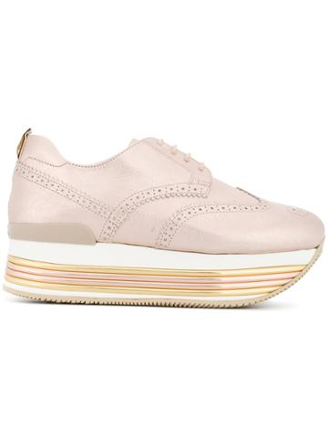 Hogan Platform Brogues - Pink & Purple