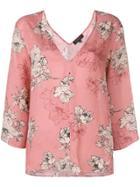 Antonelli Floral Print Blouse - Pink
